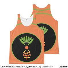 CHIC OVERALL DESIGN TOP_MODERN YELLOW PINEAPPLE All-Over PRINT TANK TOP Tank Tops