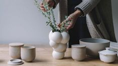Bjarke Ingels' architecture studio BIG has designed a limited-edition ceramic vase modelled on a giant inflatable art pavilion that it designed in