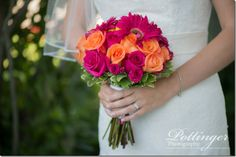 One of my favorite venues in Cincinnati is Pebble Creek Golf Course and Event Center. It is always beautiful and has the best view for a sunset. Beautiful Bouquets, Bright Pink, Summer Wedding, Orange Color, Congratulations, Colors, Blog, Photography, Photograph