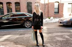 tall black socks with boots