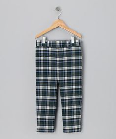 Take a look at this Blue Plaid Pants - Infant, Toddler & Kids by Right Bank Babies on #zulily today!