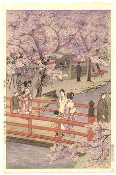 1935 - Kasamatsu, Shiro -  Cherry Blossom Viewing