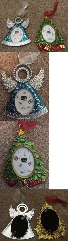 Christmas Decorations: New Studio Decor Michaels Christmas Xmas Ornament Lot Of 2 Tree And Angel Blue -> BUY IT NOW ONLY: $0.99 on eBay!