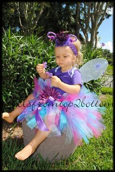 Purple Butterfly Pixie Fairy Tutu Costume by frillsfromtop2bottom