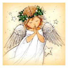 Leading Illustration & Publishing Agency based in London, New York & Marbella. Angel Illustration, Christmas Illustration, Christmas Drawing, Christmas Paintings, Christmas Angels, Christmas Art, Angel Drawing, I Believe In Angels, Angel Pictures