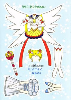 Sailor Moon paper doll clothing
