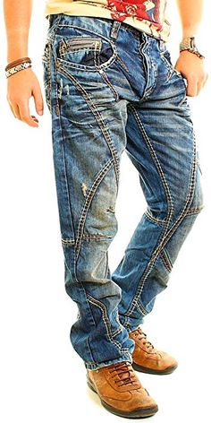 Trend Fashion, Denim Fashion, Cool Shirts For Men, Casual Wear For Men, Mens Clothing Styles, Vintage Denim, Jeans Style, Jeans And Boots, Trends