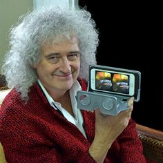 He's for every one of us: Brian May and the OWL VR headset. Credit: London Stereoscopic Company