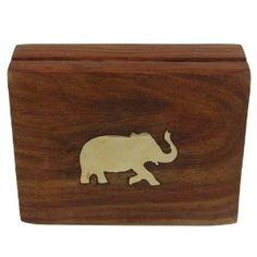 Playing Card Deck Box Case Holder Wood Décor India 11.43 cm x 8.26 cm x 3.18 cm