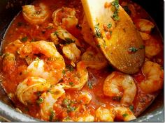 crevette sauce tomate entree ramadha 2013 Scampi Sauce, Ratatouille, Shrimp, Food And Drink, Cooking Recipes, 2013, Ethnic Recipes, Kitchen, Desserts