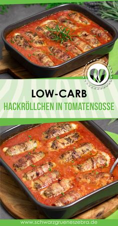 Minced rolls in tomato sauce - Low Carb - LCHF - KETO - GLUTE .- Hackröllchen in Tomatensoße – Low Carb – LCHF – KETO – GLUTENFREI The low carb minced rolls in tomato sauce are low carb, gluten free and super delicious. The recipe is easy to cook. Janta Low Carb, Law Carb, Meat Recipes, Healthy Recipes, Free Recipes, Lunch Recipes, Dessert Recipes, Best Low Carb Recipes, Water Recipes