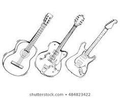 guitar draw - Αναζήτηση Google Guitar Drawing, Google