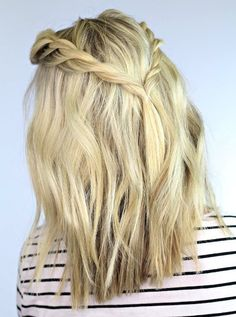 Shoulder length cut. Double twisted medium hairstyles for 2015. Blonde with twists.