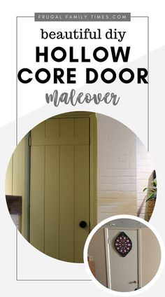Update ugly doors using this affordable easy and beautiful DIY Hollow Core Door Makeover Tutorial. This step-by-step guide will help you transform you… – Ceiling Decorations Types Of Furniture, Cool Furniture, Rustic Outdoor Decor, Outdoor Ideas, Hollow Core Doors, Frugal Family, Door Makeover, Diy Home Improvement, Furniture Makeover