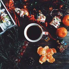 Новый год, декор, украшения праздник, кофе, выпечка, печенье