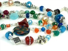 30 GEMSTONE Necklace Fantastic Hand Crafted From Gemstones All Over The World!! Hand Crafted by Chris of  FantasyDesign, $175.00