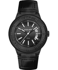 Jacques LEMANS Miami Sport All Black Leather Strap Μοντέλο: 1-1770J Η τιμή μας: 134€ http://www.oroloi.gr/product_info.php?products_id=33851