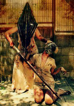 Pyramid Head and Nurse (Silent Hill) ~ Cos Play / by ~ShinaDragon on deviantART