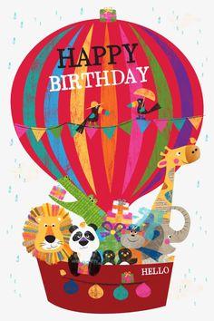Birthday Quotes : Happy Birthday Hot Air Balloon - Grace Home Happy Birthday Hot, Birthday Wishes For Kids, Birthday Card Sayings, Birthday Wishes Quotes, Happy Birthday Messages, Happy Birthday Images, Happy Birthday Greetings, Birthday Pictures, Birthday Cards