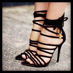 Guiseppe Zanotti black sexy shoes