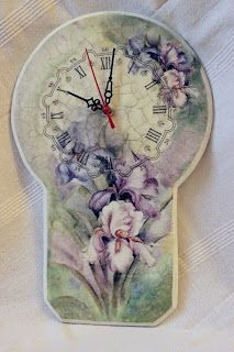 do-deco: #altered clock with #napkin art #decoupage