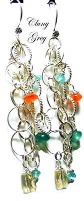 dangle earrings - http://www.clunygreyjewelry.com/dangle-earrings.html