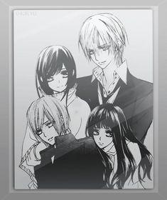 Yuki Kiryu, Ren Kiryu and Ai Kuran. Zero will happily protect them forever. #VampireKnight