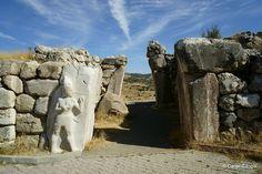 The Kings Gate of Hattusa, the Hittite Empire in Turkey.
