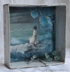 Wintermädchen | collage box by papiertänzerin.