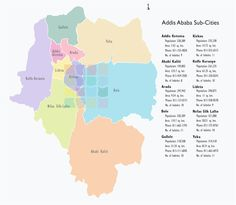 water cut map of addis ababa | Addis Ababa Map | Maps of Addis Ababa ...