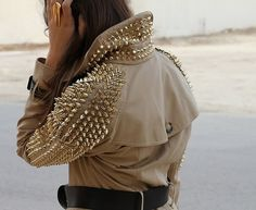 GLAMOUR & PEARLS: Burberry Prorsum Studded Trench Coats