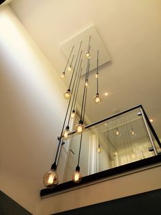 Home Stairs Design, Railing Design, Interior Stairs, Home Room Design, Home Interior Design, Interior Decorating, Staircase Lighting Ideas, Stairway Lighting, Home Lighting