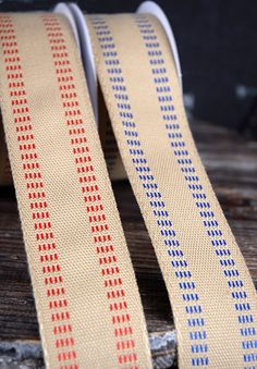 How adorable is this faux upholstery tape ribbon?!