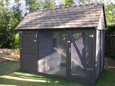 This website has helpful, step by step instructions on how they built it.  Coop includes storage for food and supplies.