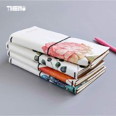 4 Styles Japanese Creative Flower Maple Leaf DIY Notebook Leather Cover Travel Journal Diary Planner Agenda Gifts