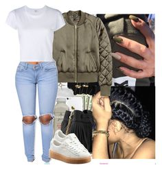 """I'm not trynna pressure you just can't stop thinking bout you."" by heavensincere ❤ liked on Polyvore featuring Oris, Topshop, Whistles, RE/DONE and Puma"
