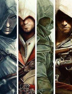 [AC1/ACB/AC3/AC4 BF] Altaïr Ibn-La'Ahad, Ezio Auditore da Firenze, Connor Kenway and Edward Kenway