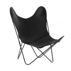 Fauteuil indoor AA Butterfly Cuir Buffalo Noir / Structure noire - AIRBORNE
