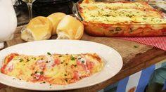 Canelones de verdura y ricota con salsa rosa