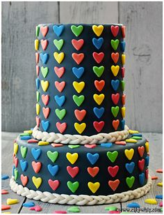 Use these detailed instructions to make a beautiful fondant cake with jumbo heart sprinkles. Perfect for Mother's day, Valentine's day or Anniversaries! Strawberry Vanilla Cake, Chocolate And Vanilla Cake, Strawberry Frosting, Fondant Cakes, Cupcake Cakes, Buttercream Cake, Beautiful Cakes, Amazing Cakes, Heart Cakes