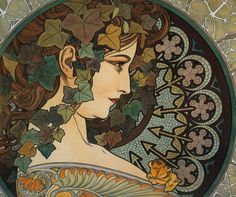 Ivy 1901  Love the mosaic stained glass halo.
