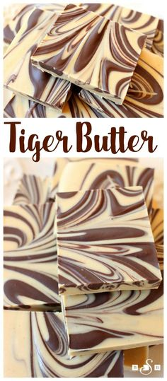 Tiger Butter Fudge - a simple but indulgent fudge recipe that requires only 3 ingredients and 5 minutes to make! Butter With A Side of Bread