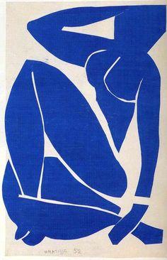 Blue Nude (2) by Henri Matisse (1869-1954, France)