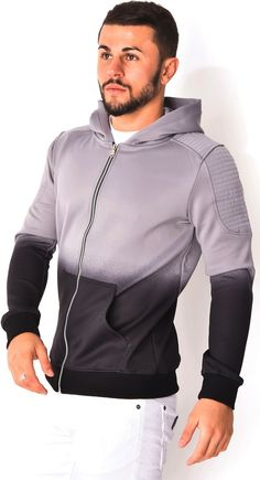 Grey to black fade hoodie - that should be mine!