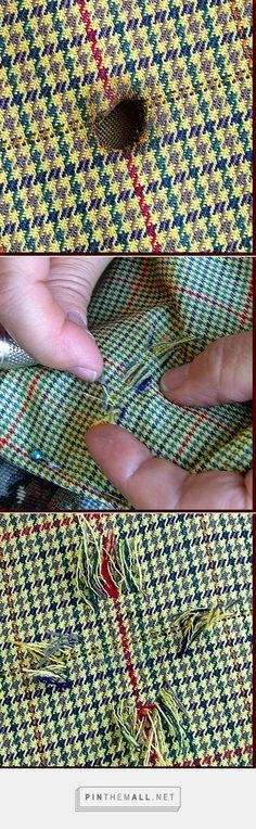 Invisible mending/French mending: reweaving threads for a perfect repair