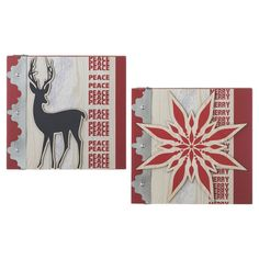 Festive addition to your holiday decor this lovely wall decor