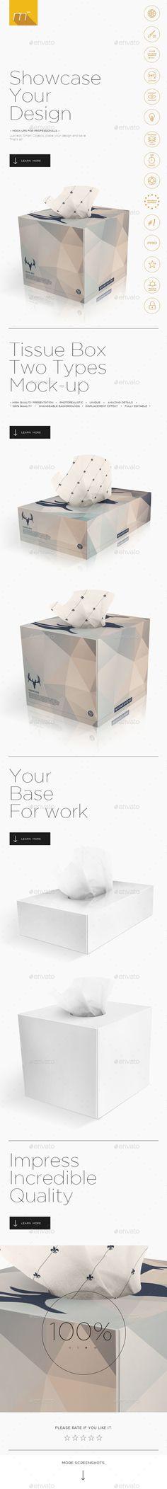 2x Tissue Box Mock-up #design Download: http://graphicriver.net/item/2x-tissue-box-mockup/14011734?ref=ksioks