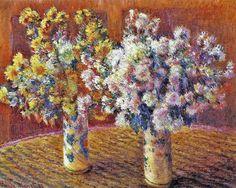 Deux Vases de chrysanthèmes (C Monet - W 1212),1888.