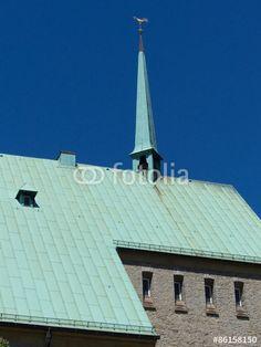 Kupferdach mit Grünspan der Altstädter Nicolaikirche in Bielefeld in Ostwestfalen-Lippe