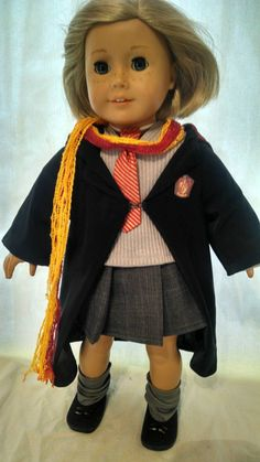 Hermione Costume for AG doll by JessiesGirlClothing on Etsy
